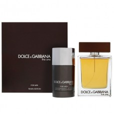 Apa de Toaleta Dolce & Gabbana The One 100 ml + 75 ml Deodorant stick, Barbati, Travel Set