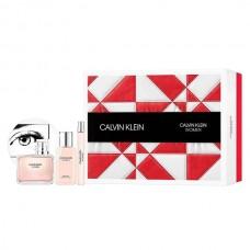 Set Apa de parfum Calvin Klein Woman 100 ml + 10 ml + 100 ml Lotiune de Corp, Femei